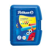 Pelikan Knetmasse Creaplast Kinderknete 198/9B blau, 9 Farben, 300g
