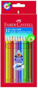 Faber-Castell Buntstift Colour Grip 12er-Kartonetui
