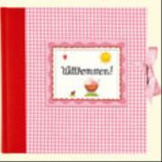 Großes Fotoalbum Willkommen! In rosa, 65 Seiten