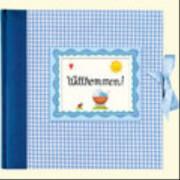 Großes Fotoalbum Willkommen!, hellblau