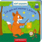 Mini-Karaoke: Ich geh mit meiner Laterne, Pappbilderbuch mit Soundmodul, 12 Seiten, ab 1 Jahr, inklusive Batterien