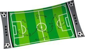 Die Spiegelburg 31461 Wild + Cool - Zauberhandtuch ''Fußball'', ca. 30x60 cm